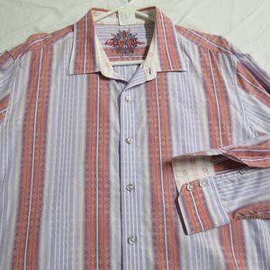 XL Purple/Orange Striped Robert Graham #61F Shirt